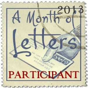 A Month of Letters Participant