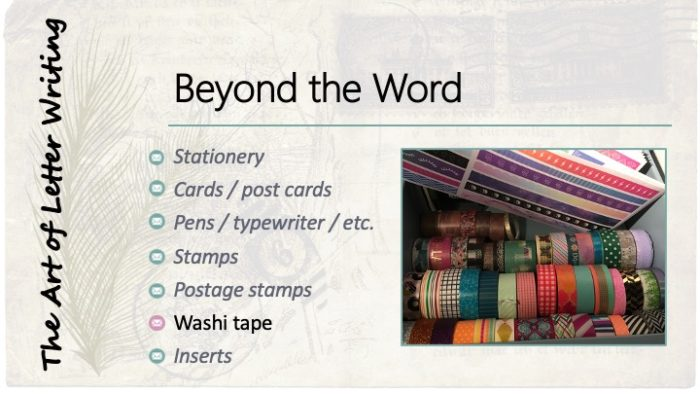 Beyond the Word: Washi tape