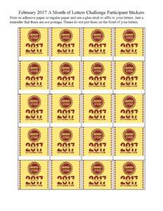 2017 participant stickers